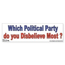 Which Political Party do you Bumper Sticker