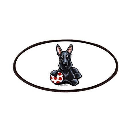 Black GSD Soccer Pro Patches
