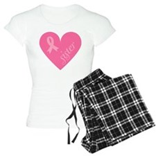 Breast Cancer Sister Heart Pajamas