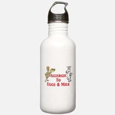 Allergic To Eggs & Milk Water Bottle