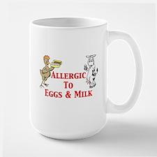Allergic To Eggs & Milk Large Mug