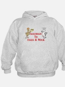Allergic To Eggs & Milk Hoodie
