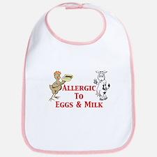 Allergic To Eggs & Milk Bib