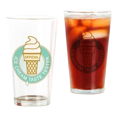 Ice Cream Taste Tester Drinking Glass