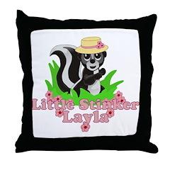 Little Stinker Layla Throw Pillow