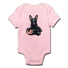 Black GSD Soccer Pro Infant Bodysuit