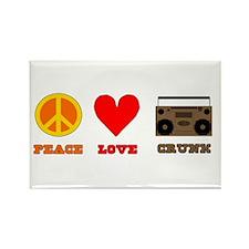 Peace Love Crunk Rectangle Magnet