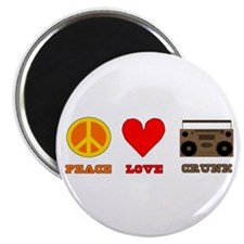 Peace Love Crunk Magnet