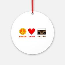 Peace Love Crunk Ornament (Round)
