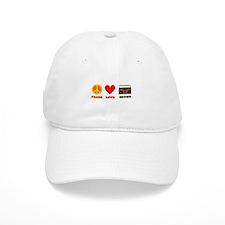 Peace Love Crunk Baseball Cap