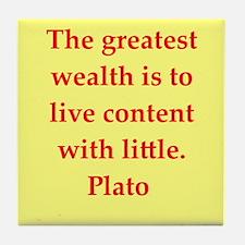 Wisdom of Plato Tile Coaster