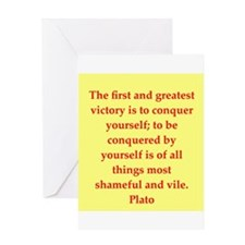 Wisdom of Plato Greeting Card