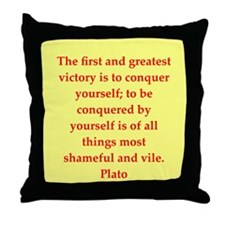 Wisdom of Plato Throw Pillow