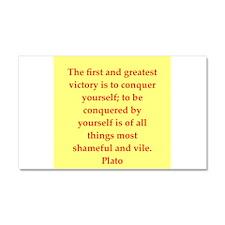 Wisdom of Plato Car Magnet 20 x 12