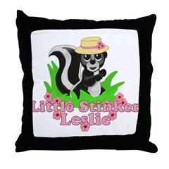 Little Stinker Leslie Throw Pillow