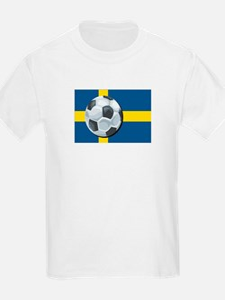 Swedish Soccer Kids T-Shirt