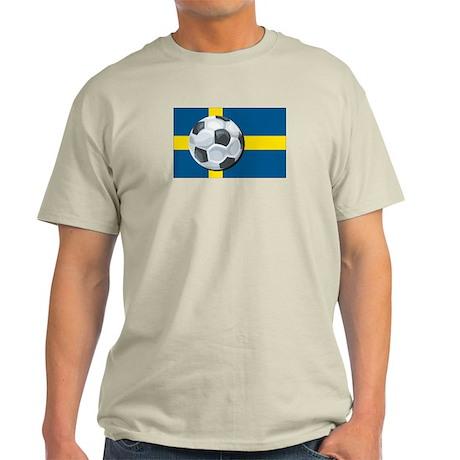 Swedish Soccer Ash Grey T-Shirt