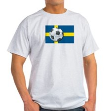 Swedish Soccer Ash Grey T-Shirt