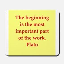 Wisdom of Plato Mousepad
