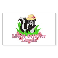 Little Stinker Linda Sticker (Rectangle 10 pk)