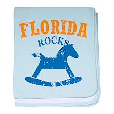 Florida Rocks baby blanket
