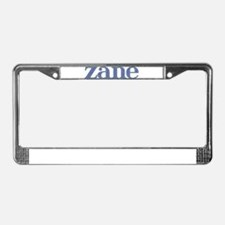 Zane Blue Glass License Plate Frame