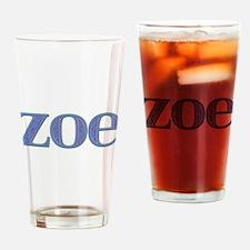 Zoe Blue Glass Drinking Glass