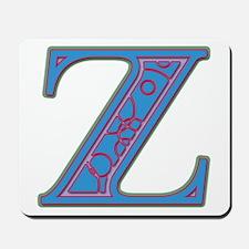 Z Blue Glass Mousepad
