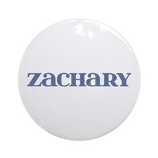 Zachary Blue Glass Round Ornament