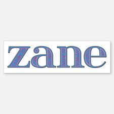 Zane Blue Glass Bumper Bumper Bumper Sticker