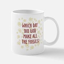 Which Day Did God Make Fossils? Mug