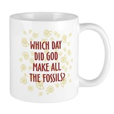 Which Day Did God Make Fossils? Mug