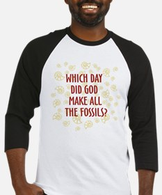 Which Day Did God Make Fossils? Baseball Jersey