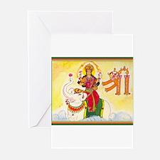 Unique Hindu goddess Greeting Cards (Pk of 20)