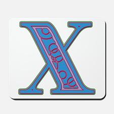 X Blue Glass Mousepad