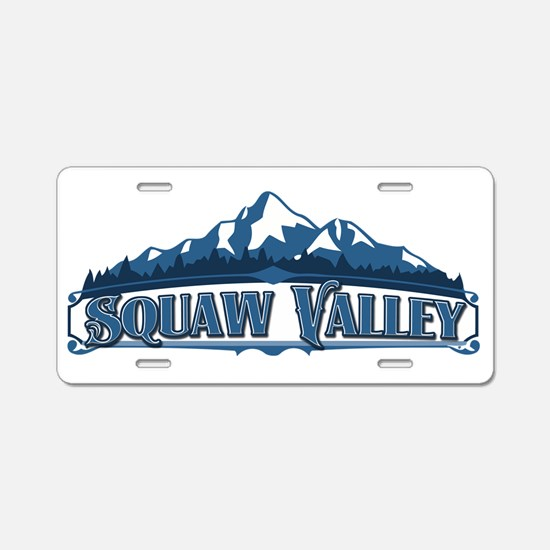 Squaw Valley Blue Mountain Aluminum License Plate
