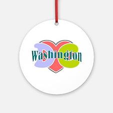 Washington D.C Ornament (Round)