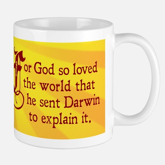 For God So Loved Darwin (Mug)