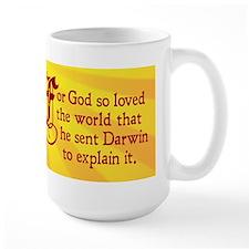 For God So Loved Darwin (Large Mug)