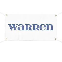 Warren Blue Glass Banner