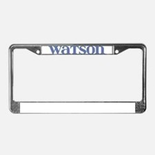 Watson Blue Glass License Plate Frame