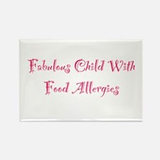 Fabulous Child With Food Allergies Rectangle Magne