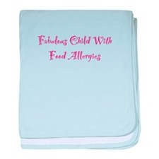 Fabulous Child With Food Allergies baby blanket