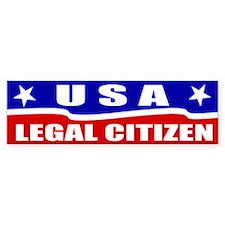 Legal Citizen USA Bumper Bumper Sticker