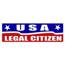 Legal Citizen USA Bumper Car Sticker