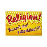 Anti religion sticker Stickers & Flair