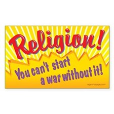 Religion. You Can't Start a W Stickers