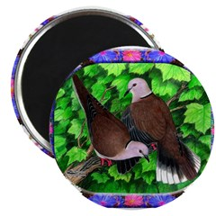 Doves and Flowers Magnet