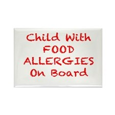 Cool Allergic dairy Rectangle Magnet