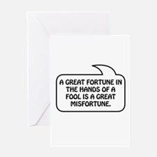 Fortune Bubble 1 Greeting Card